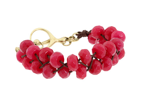 Diverse Fossil - Woven Beads Bracelet - Berry/Brass/Chocolate