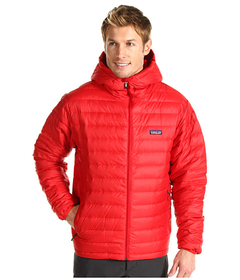 Jachete Patagonia - Down Sweater Full-Zip Hoodie - Red Delicious