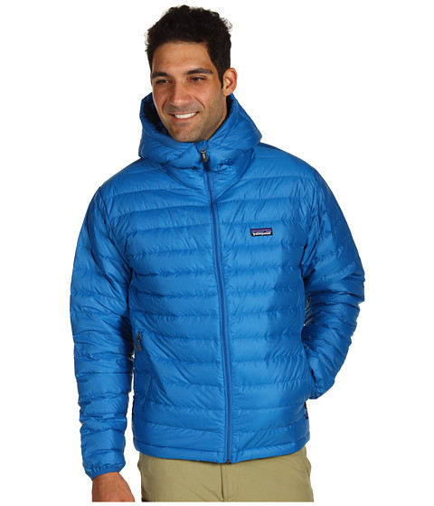 Jachete Patagonia - Down Sweater Full-Zip Hoodie - Bandana Blue
