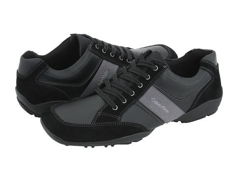 Adidasi Calvin Klein - Barber - Black Suede/Waxy Calf