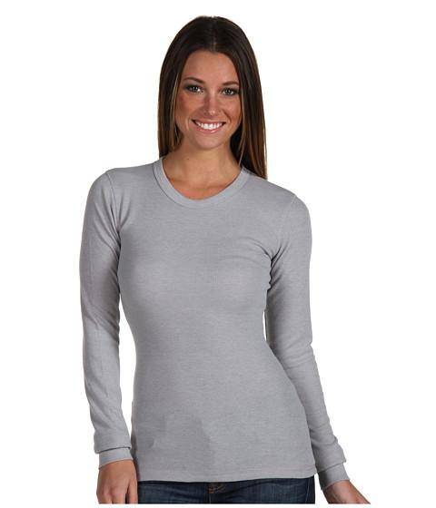Bluze Alternative Apparel - Thermal L/S Crew - Grey Heather