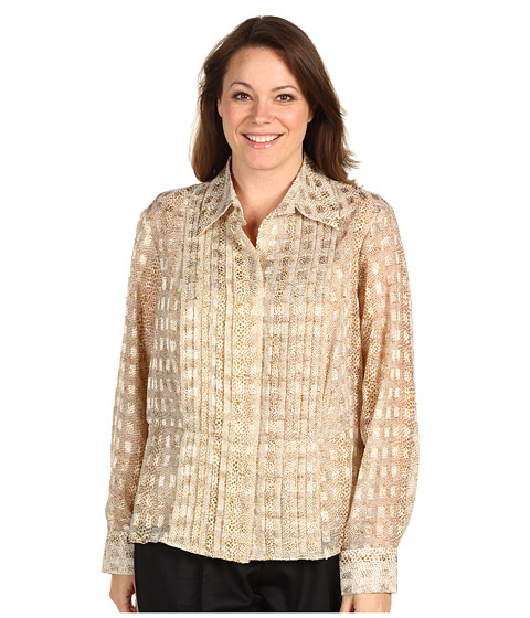 Tricouri Jones New York - Plus Size Pleated L/S Shirt - Frosted Gold