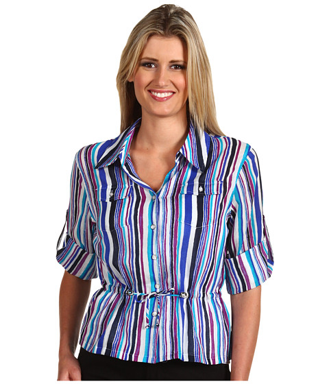 Tricouri Jones New York - Roll Sleeve Shirt w/ Drawcord - Tropic Blue