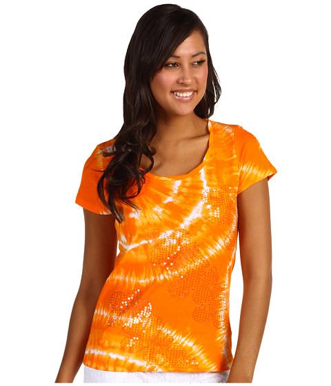 Tricouri Jones New York - Cotton Scoop Neck S/S With Sequins - Persimmon Orange Combo