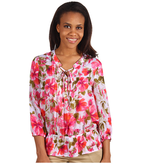 Tricouri Jones New York - Long Sleeve Pintucked Top - Multi