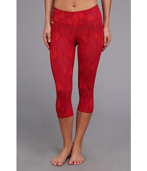 Pantaloni Lole - Run Capri LSW0226 - Red Sea Azteck