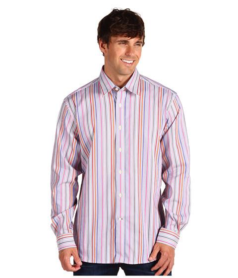 Camasi Type Z - Holste Button Down Shirt - Blue/Orange Stripe