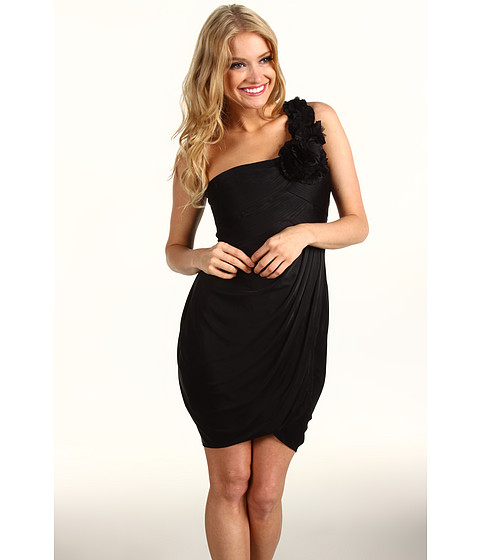 Rochii BCBGMAXAZRIA - Addison One-Shoulder Cocktail Dress - Black