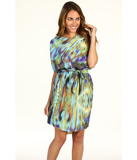 Rochii Jessica Simpson - Asymmetrical One Sleeve Belted Dress - Freesia