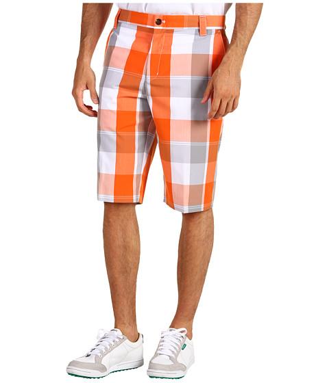 Pantaloni adidas - Fashion Performance Plaid Short - Zone/Orange/White