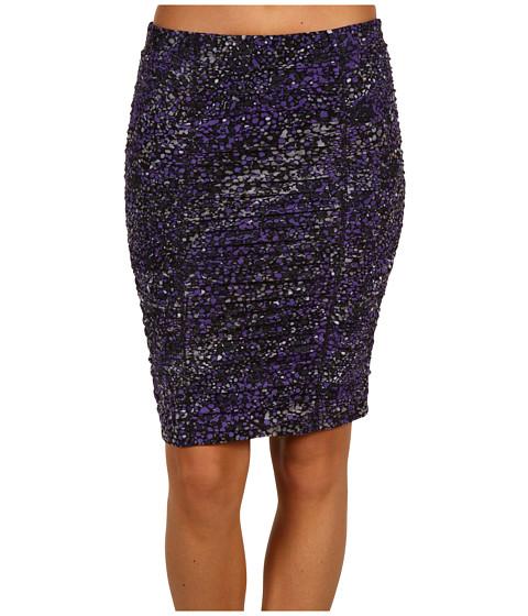 Fuste BCBGMAXAZRIA - Mesh Shirred Skirt - Bright Chambray Combo