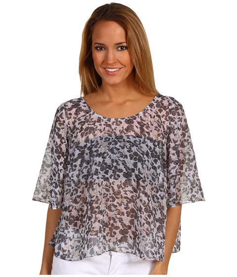 Bluze BCBGeneration - Bell Sleeve Cape Top - Light Sky Multi