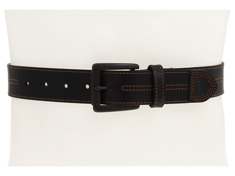 Curele Johnston & Murphy - Double Center Stitched Belt - Black