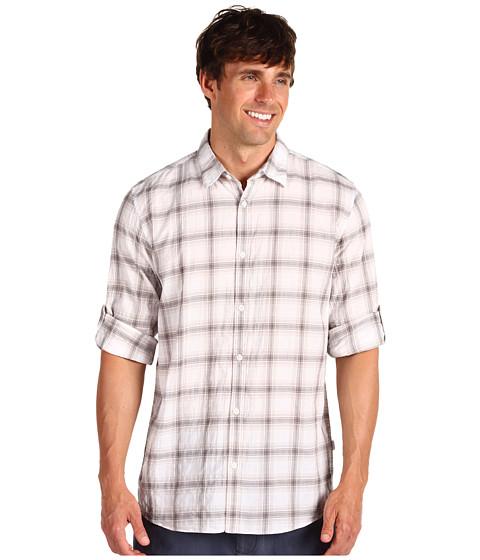Tricouri Calvin Klein - L/S Plaid Poplin Shirt - Spring Leaf
