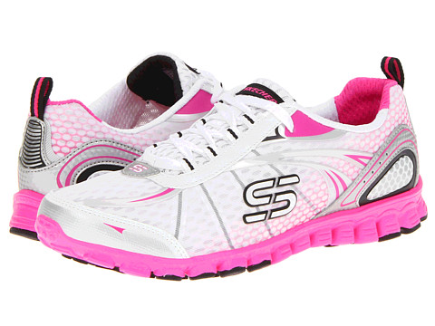 Adidasi SKECHERS - EZ Flex- Barbed Wire - White/Hot Pink