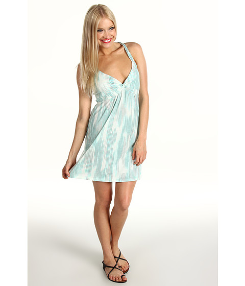 Rochii Roxy - Moonlight Dancing Halter Dress - Riviera Turquoise