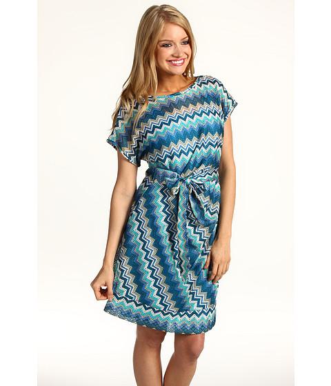 Rochii Donna Morgan - Side Tie Dress - Blue/White