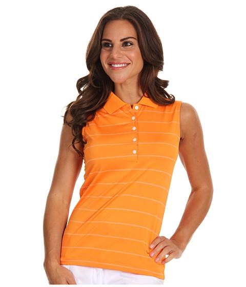 Bluze Nike - Sleeveless Nike Tech Stripe Polo - Orange Horizon/White/Orange Horizon
