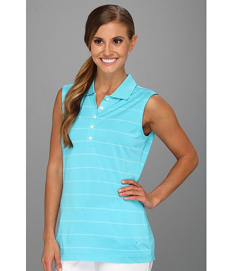 Bluze Nike - Sleeveless Nike Tech Stripe Polo - Gamma Blue
