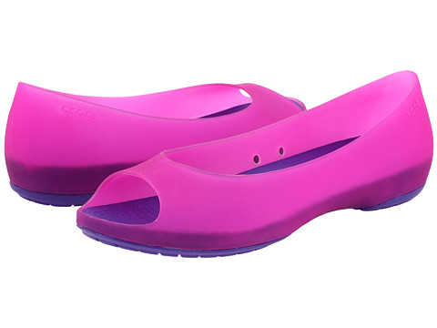 Balerini Crocs - Carlie Flat - Fuchsia/Ultraviolet