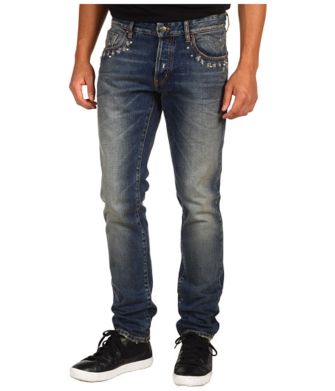 Blugi Just Cavalli - Slim Fit Stone Wash Destroyed - Denim