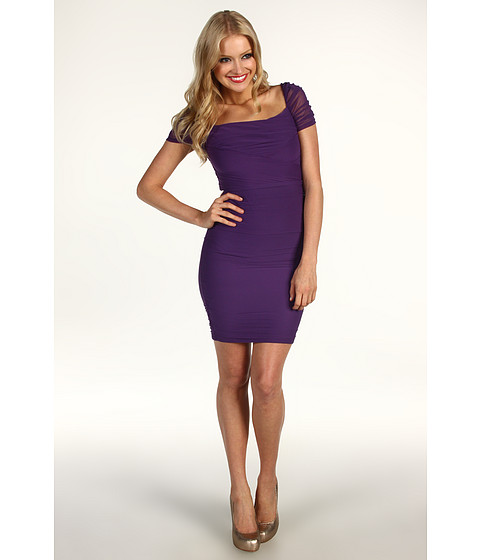 Rochii Jessica Simpson - Gathered Exposed Zipper Dress - Loganberry