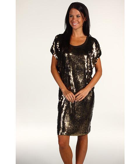 Rochii Michael Kors - Splatter Sequin Scoop Neck Dress - Bark