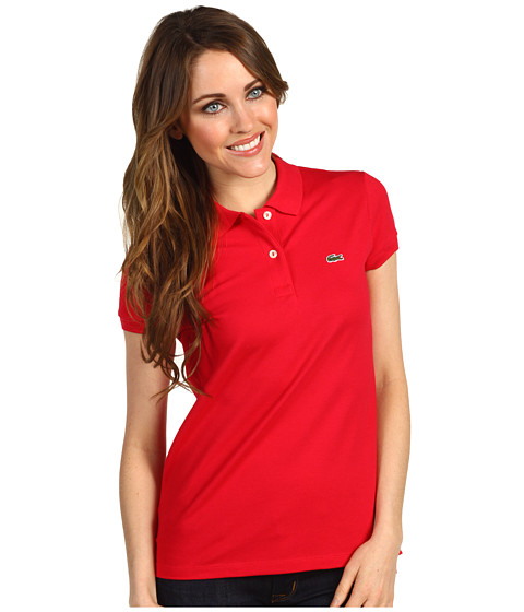 Bluze Lacoste - S/S 2 Button Stretch Pique Polo - Cranberry Pink