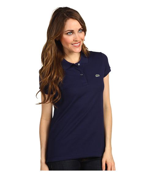 Bluze Lacoste - S/S 2 Button Stretch Pique Polo - Shadow Blue