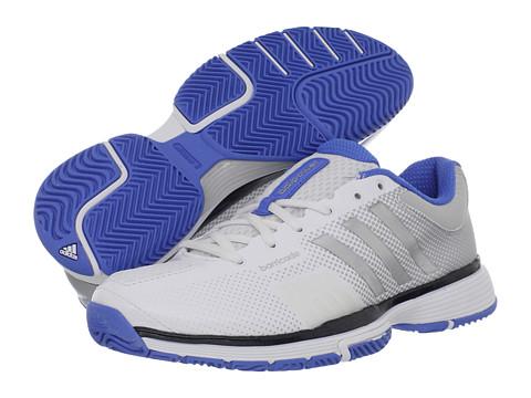 Adidasi adidas - adipowerâ⢠barricade 7.0 W - Running White/Metallic Silver/Fresh Blue