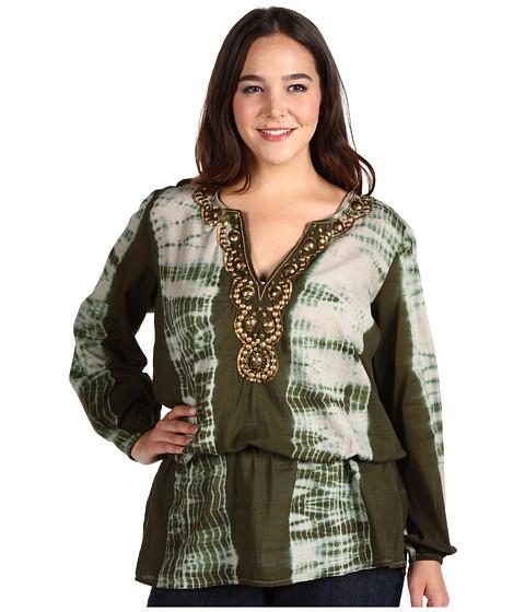 Bluze Michael Kors - Plus Size Chibori Print Tie Dye Top - Khaki