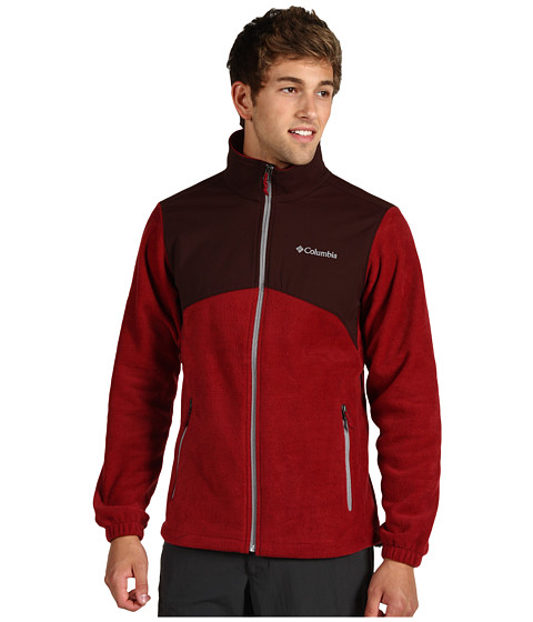 Jachete Columbia - Steens Mountainâ⢠Tech Full Zip - Red Element/Cattail/Light Grey
