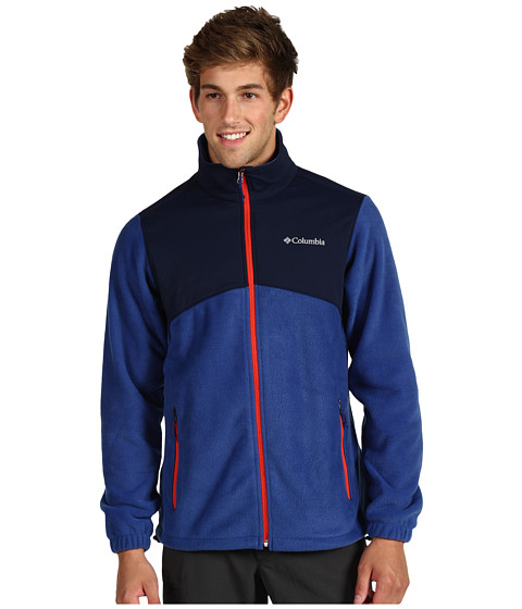 Jachete Columbia - Steens Mountainâ⢠Tech Full Zip - Royal/Collegiate Navy/Autumn Orange