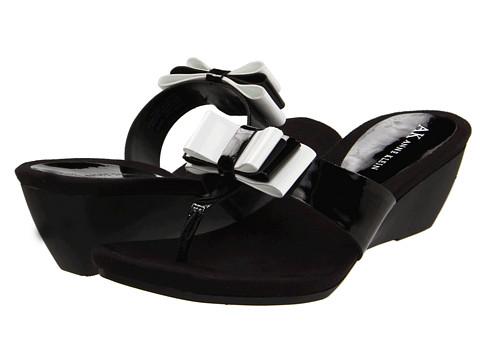 Sandale Anne Klein - Claira - Black/White Patent