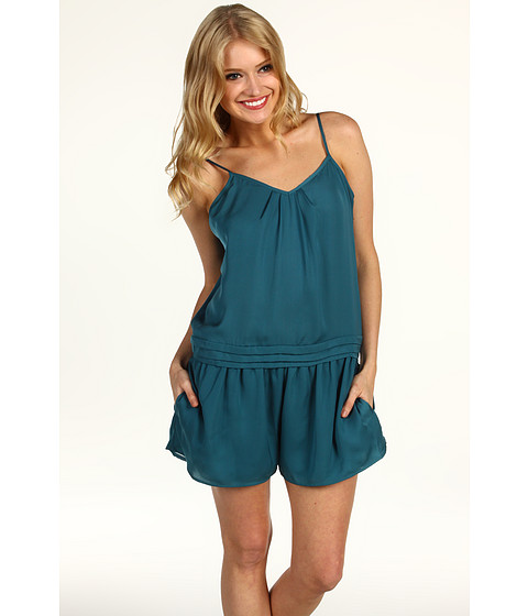 Pantaloni BCBGeneration - Pleated V-Neck Romper - Deep Aqua