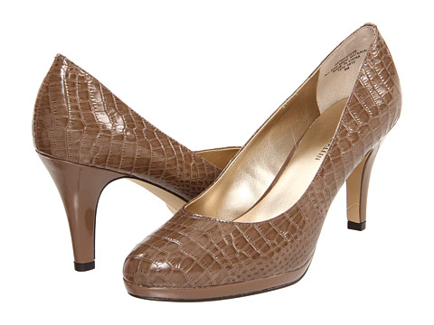 Pantofi Anne Klein - 7Wystere - Taupe Croco Patent