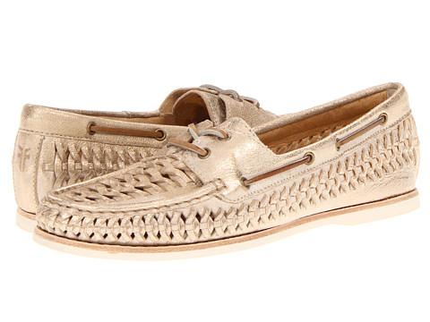 Balerini Frye - Quincy Woven Boat - Gold Metallic Leather