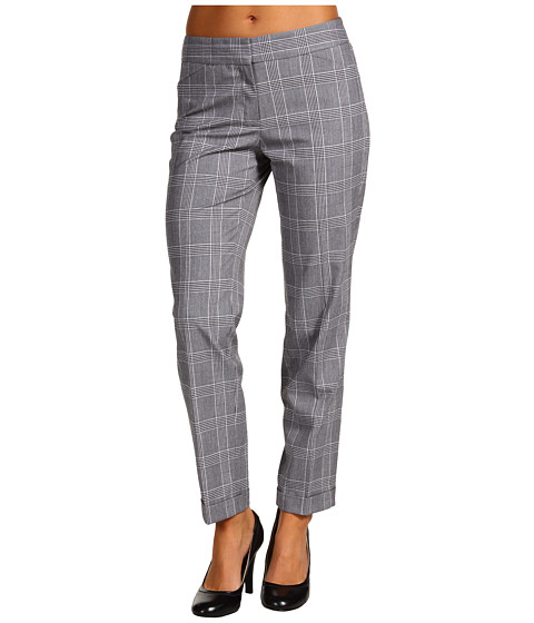 Pantaloni Anne Klein - Glen Plaid Slim Pant - Multi