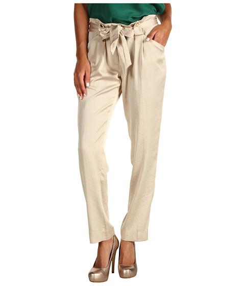Pantaloni Anne Klein - Pant w/ Tie Front - Pedra