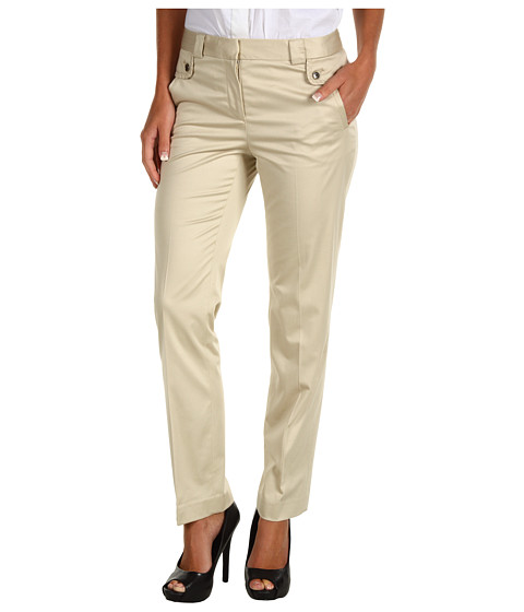 Pantaloni Anne Klein - Petite Slim Leg Pant - Pedra