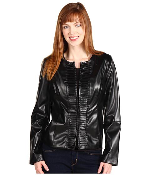 Jachete Anne Klein - Faux Leather Jacket - Black