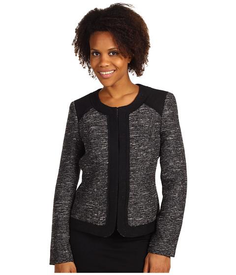 Jachete Anne Klein - Textured Jewel Neck Jacket - Black/White