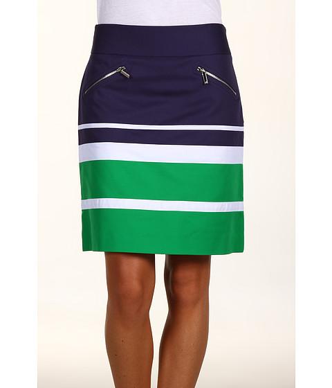Fuste Anne Klein - Colorblock Mini Skirt - Kelly Green