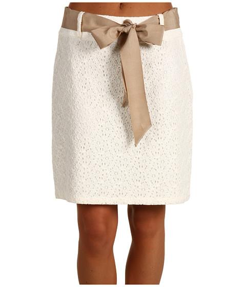 Fuste Anne Klein - Cotton Lace Mini Skirt - Sugar