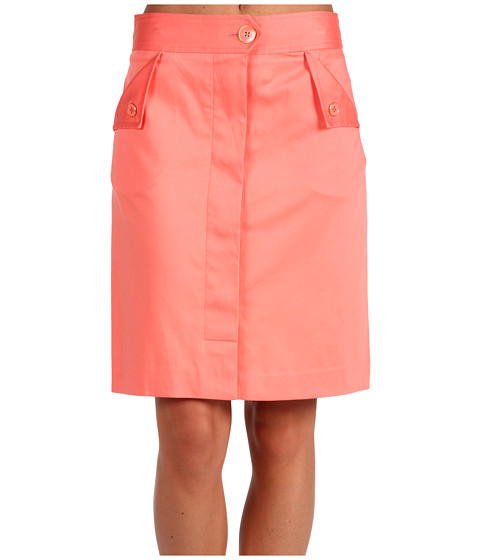 Fuste Anne Klein - Cotton Sateen Skirt - Papaya