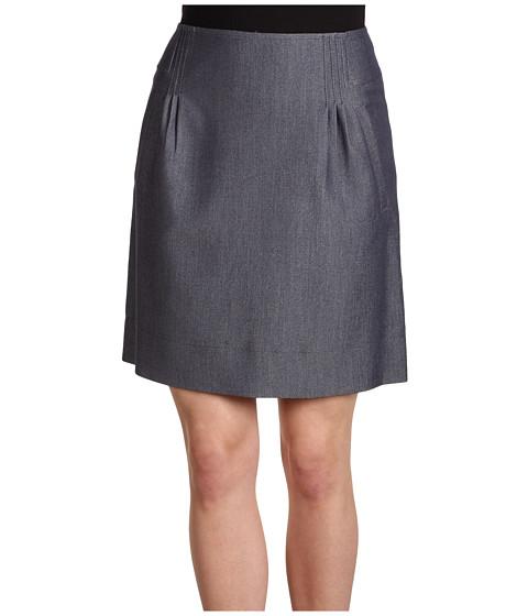 Fuste Anne Klein - Indigo Twill Skirt w/ Pleats - Indigo
