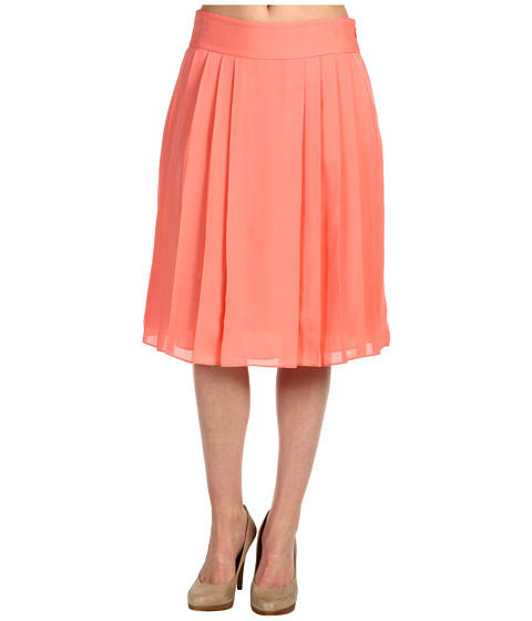 Fuste Anne Klein - Pleated Soft Skirt - Papaya