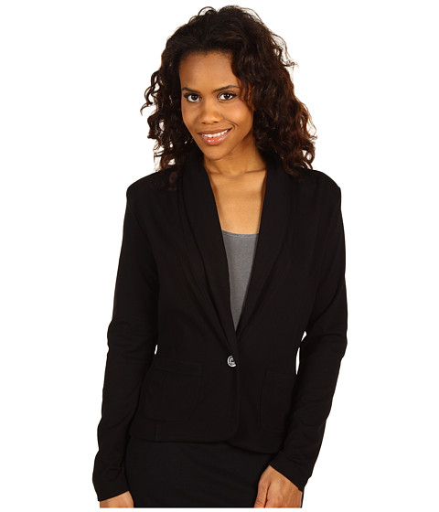 Jachete Anne Klein - Long Sleeve Shawl Collar 1 Button Jacket - Black