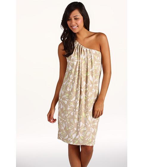 Rochii Anne Klein - Lion Print One Shoulder Dress - Tan Multi