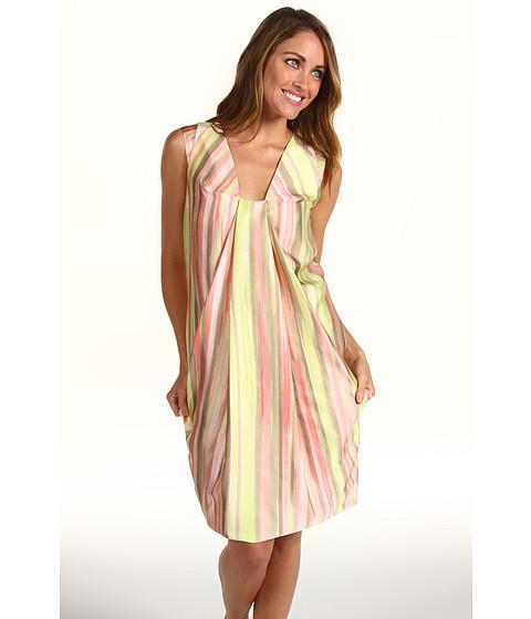 Rochii Anne Klein - Painted Stripe Print Dress - Multi